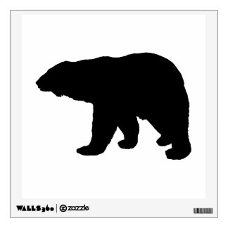 polar bear silhouette wall decal