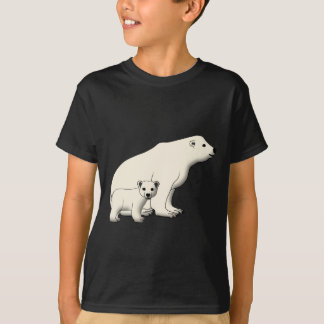 Polar bear sits with baby T-Shirt