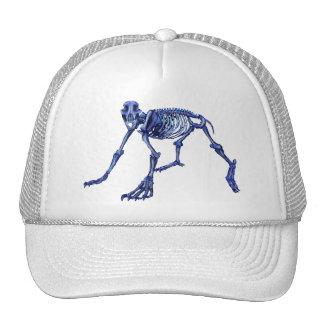 Polar bear skeleton trucker hat