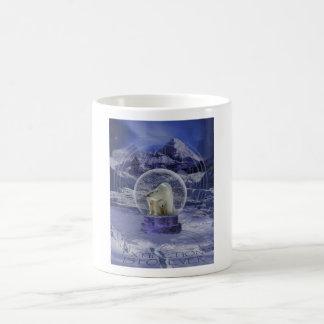 Polar Bear Snow Globe copy Classic White Coffee Mug