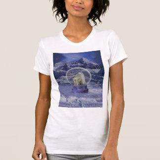 Polar Bear Snow Globe copy Tee Shirt