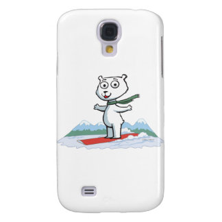 Polar Bear Snowboarding Samsung S4 Case