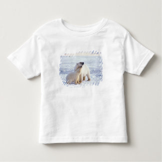Polar bear sow with cub, pack ice of the toddler t-shirt