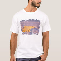 Polar bear sow with spring cubs on the frozen T-Shirt