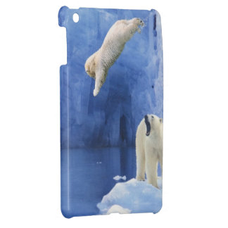 Polar Bear Splash iPad Mini Case