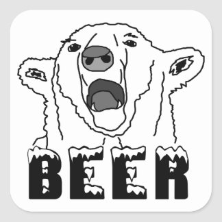 Polar Bear Square Sticker