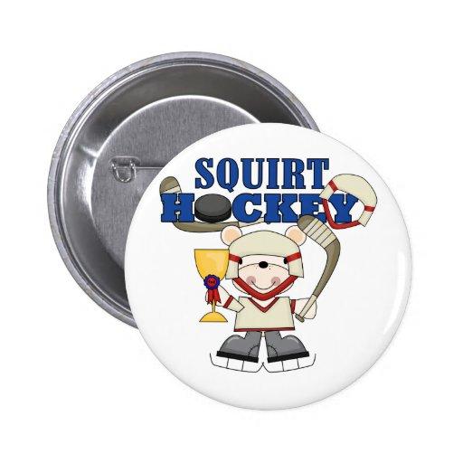 Polar Bear Squirt Hockey Tshirts and Gifts Pin