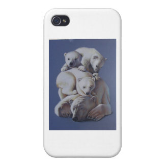 Polar Bear Stack iPhone 4/4S Covers