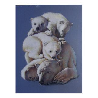Polar Bear Stack Postcard