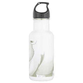 Polar bear stainless steel water bottle