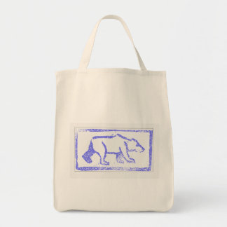 Polar Bear Stamp Tote Bag