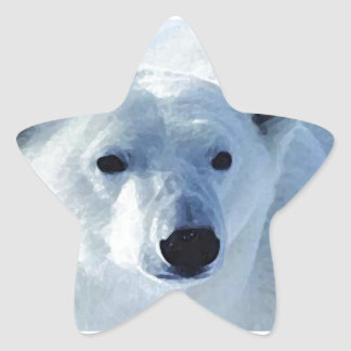 Polar Bear Star Sticker