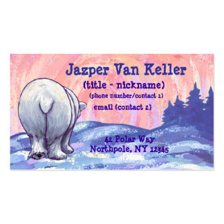 Polar Bear Stationery Double-Sided Standard Business Cards (Pack Of 100)