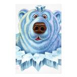 polar bear stationery design