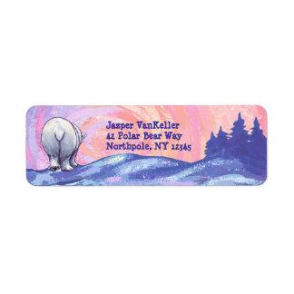 Polar Bear Stationery Return Address Label