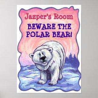 Polar Bear Stationery Poster