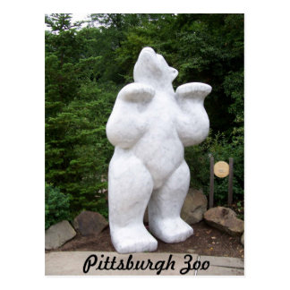 Polar Bear Statue Postcard