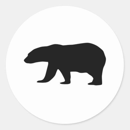 Polar Bear Round Stickers