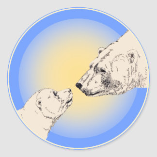 Polar Bear Stickers Wildlife Bear & Cub Stickers