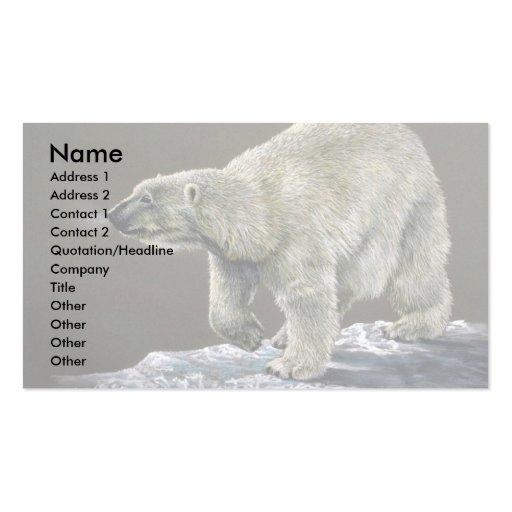 Polar Bear study Business Cards