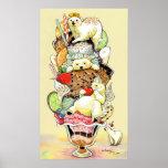 Polar Bear Sundae Dream Deluxe Poster
