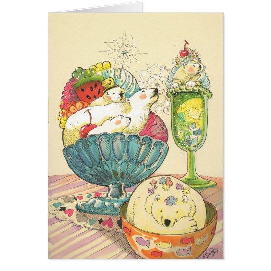"""Polar Bear Sundae Dream""  Multipurpose Card"
