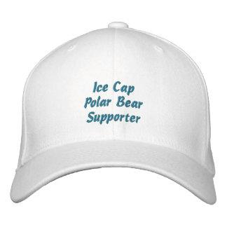 Polar Bear Supporter Fun Embroidered Ice Cap