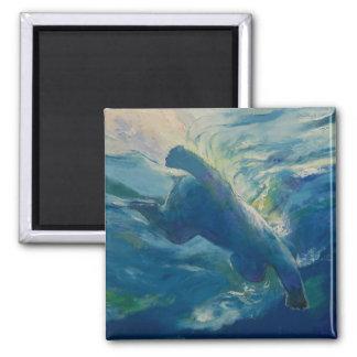 Polar Bear Swim Fridge Magnet