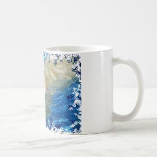 Polar bear swimming coffee mug