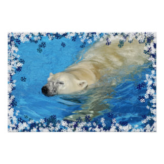 Polar bear swimming posters