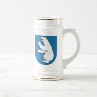 polar bear - symbol of cape of Shmidt 18 Oz Beer Stein