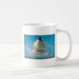 Polar Bear Taking a Swim Mugs