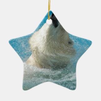 Polar Bear Taking a Swim Ornament