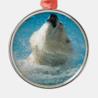 Polar Bear Taking a Swim Christmas Tree Ornament