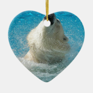 Polar Bear Taking a Swim Christmas Ornaments