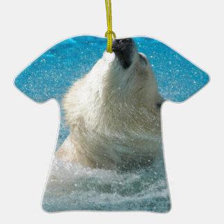Polar Bear Taking a Swim Christmas Tree Ornaments