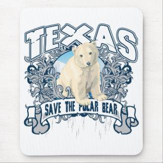 Polar Bear Texas Mouse Pad