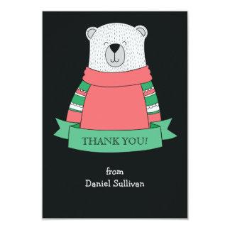 Polar Bear Thank You Notecard