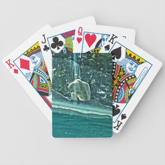 Polar Bear Thinking About A swim Bicycle Playing Cards