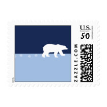 Polar Bear Tracks Postage