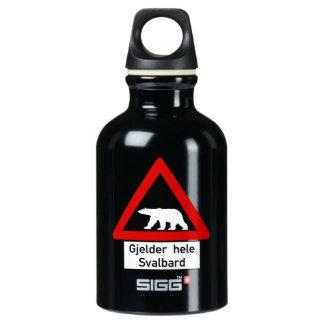Polar Bear, Traffic Sign, Norway SIGG Traveler 0.3L Water Bottle