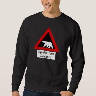 Polar Bear, Traffic Sign, Norway Sweatshirt