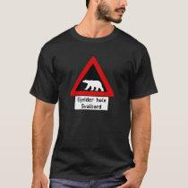 Polar Bear, Traffic Sign, Norway T-Shirt