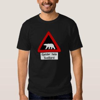 Polar Bear, Traffic Sign, Norway Tees