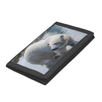 Polar Bear Trifold Nylon Wallet