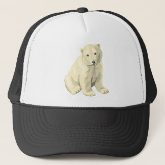 Polar bear trucker hat
