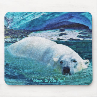 Polar Bear & Tundra Ice Wildlife Art Mousepad
