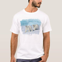 Polar bear, two cups on pack ice, Ursus T-Shirt