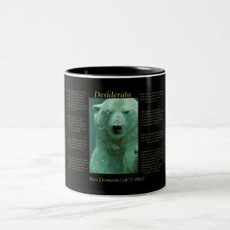 Polar Bear under the ocean water Two-Tone Coffee Mug