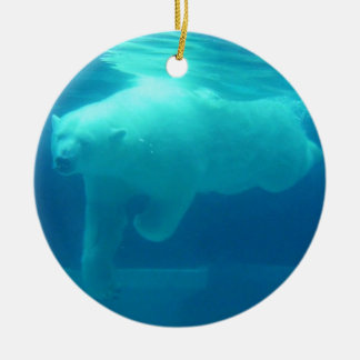Polar Bear Underwater Ceramic Ornament